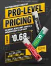 Pro-Level Pricing Flyer