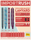 Import Rush Dye-Sub Lanyards