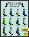 dyesub sock stock patterns